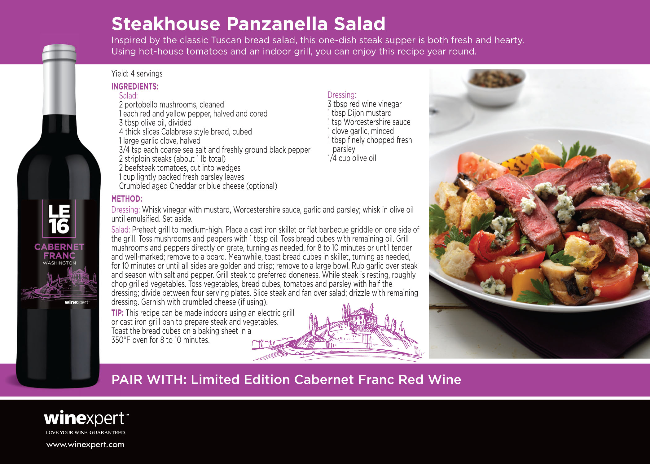 Impressive pairings steakhouse panzanella a down to earth 16445 wxle16recipecardcabernet francx1a fnl forumfinder Images